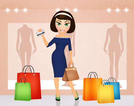 woman credit card: girl with credit card