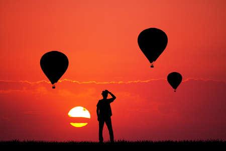 hot air balloons: hot air balloons