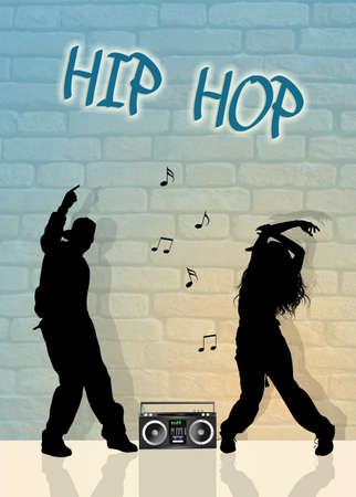 choreography: hip hop dancers Stock Photo