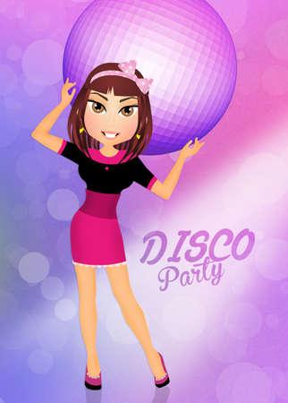 sexy girl dance: girl dancing in the disco