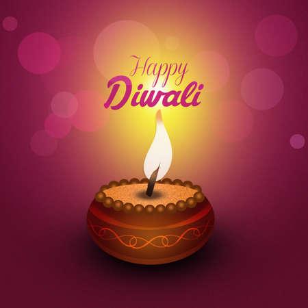 Greeting postcard of Diwali Stock Photo