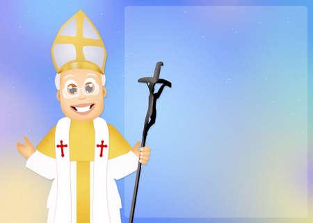 pope: illustration of Pope Stock Photo