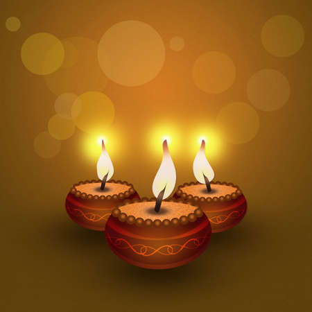 tantric: candles with candlelight Stock Photo