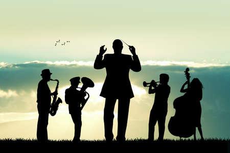 a symphony: symphony orchestra