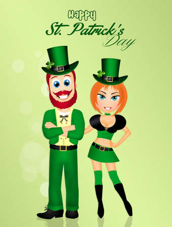 irish woman: couple for St. Patricks Day Stock Photo