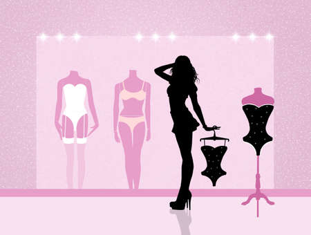 sexy woman lingerie: sexy girl in lingerie Stock Photo