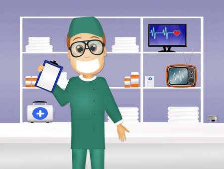 surgeon: illustration of surgeon