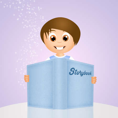 storybook: child with storybook