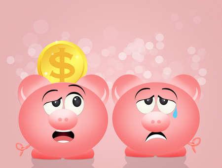 economizing: pig piggy bank