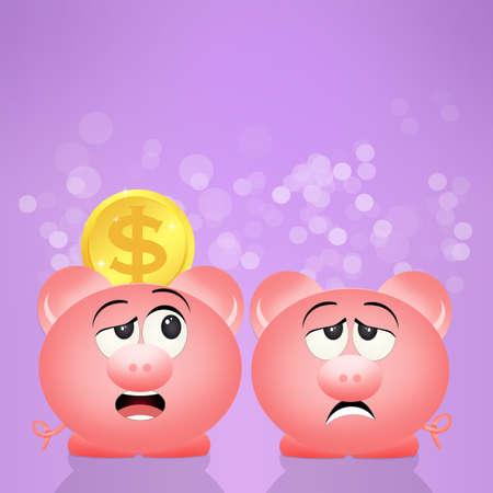 savings and loan crisis: pig piggy bank