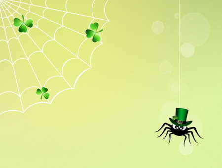 irish culture: spider with St.Patricks hat