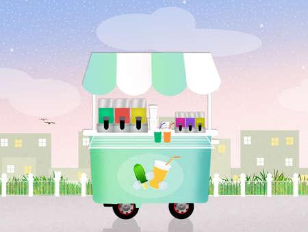 lollies: ice lollies cart