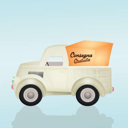 free delivery: free delivery transportation illustration