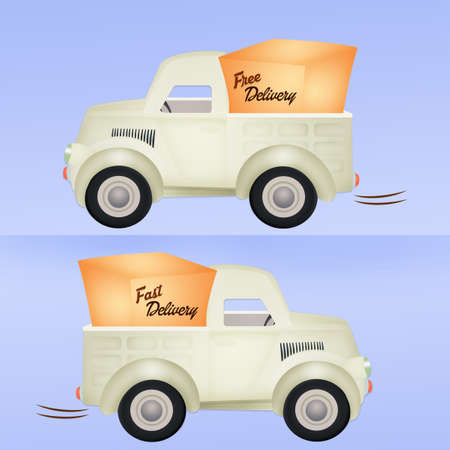 delivery truck: truck delivery illustration