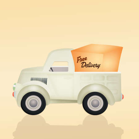 delivery truck: free delivery truck illustration
