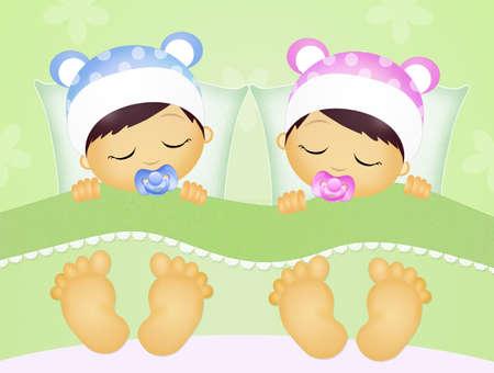 baby boys: babies sleeping in the bed