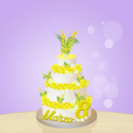 womens day: mimosa cake for Womens day