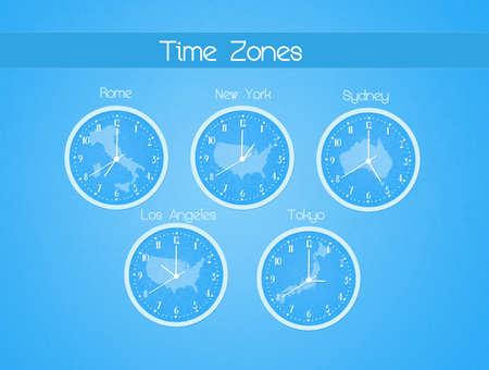 zones: Time zones