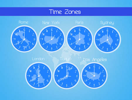 zones: Time zones in the world