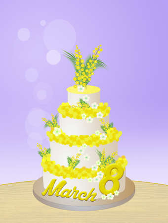 mimosa: mimosa cake for Womens day