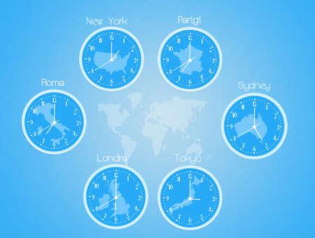 time zones: time zones clocks