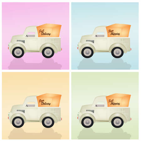 delivery truck: various delivery truck