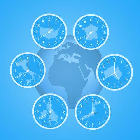 zones: time zones clocks