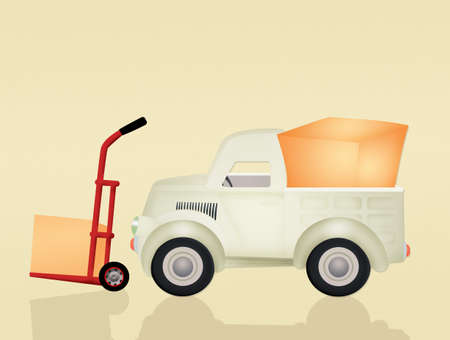 delivery truck: delivery truck Stock Photo