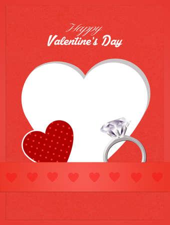 postcard: Valentines postcard Stock Photo