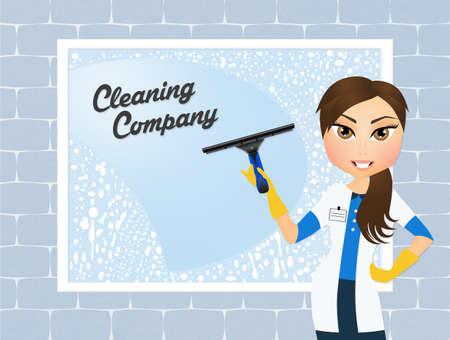 window cleaner: window cleaner