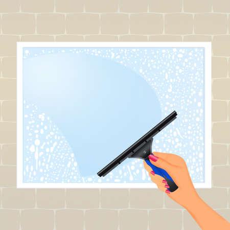 shiny: Clean shiny windows Stock Photo