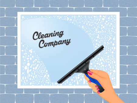 washing powder: cleaning service Stock Photo