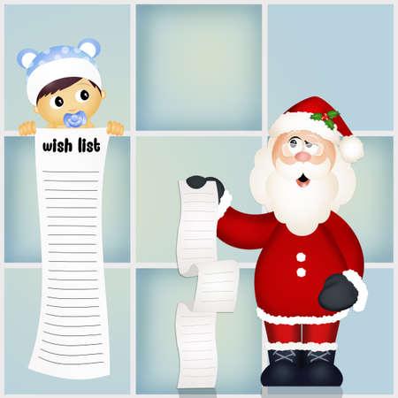 wish  list: baby with wish list