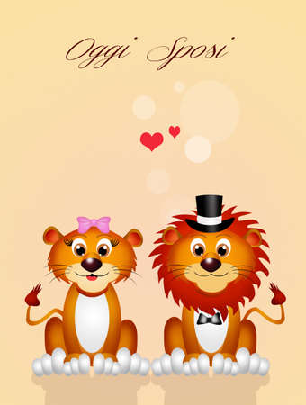 spouses: wedding of lions