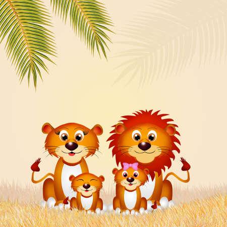 lions family Reklamní fotografie