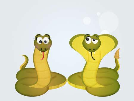 invertebrate: snake and cobra