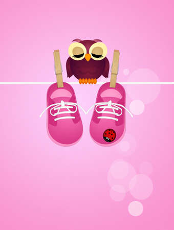 baby shoes: baby shoes for female Stock Photo
