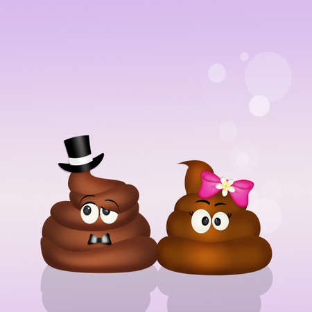 disgusting: poop couple in love