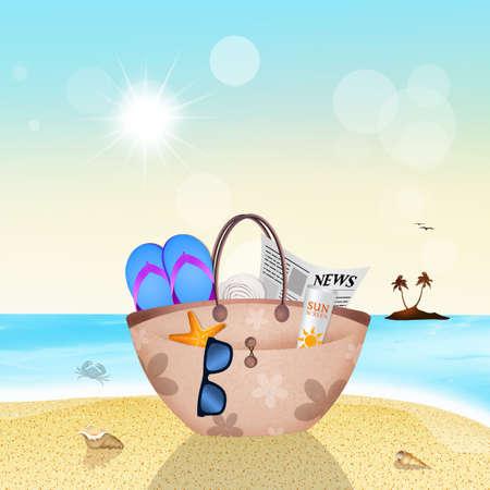 beach bag: beach bag in summer