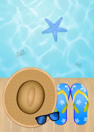 objects: illustration of summer objects