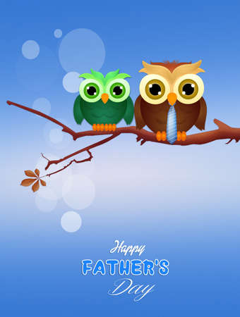 rapacious: postcard for fathers day Stock Photo