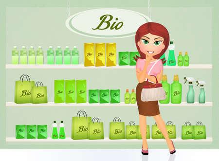 ambience: bio shop Stock Photo