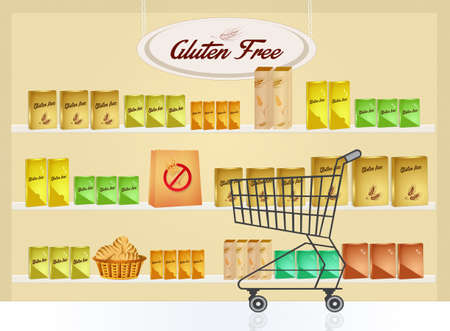 gluten: gluten free shop Stock Photo