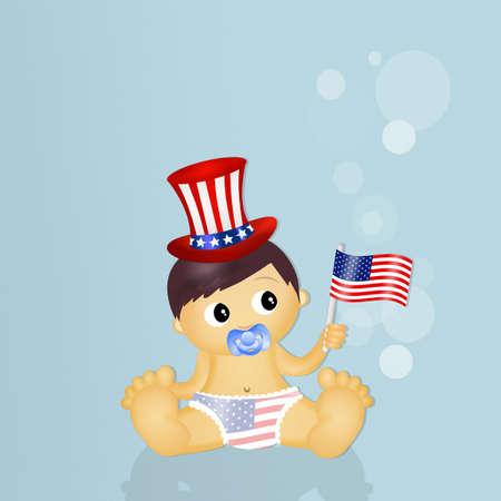july 4th: baby celebrating July 4th