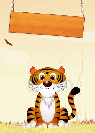 carefree: tiger