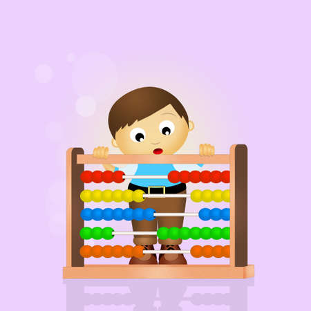 child with abacus Stock Photo - 56888063