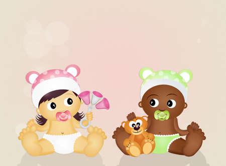 ni�os de diferentes razas: children of different races