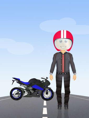 motorcyclist: girl motorcyclist