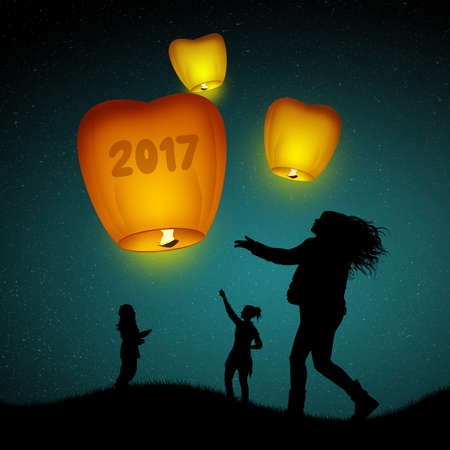 sky lantern: flying lanterns