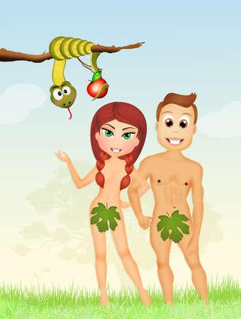 origen animal: Adán y Eva
